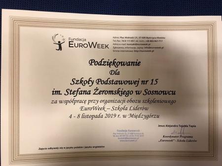 74 uczniów naszej szkoły na Euroweeku!