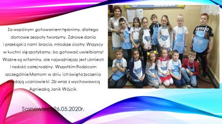 Wspólne gotowanie uczniów kl.II b