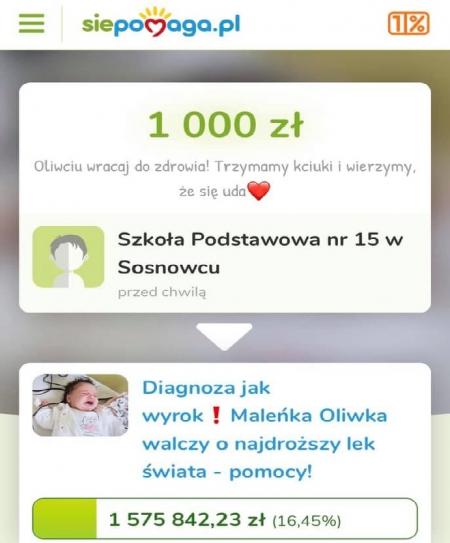 Pomagamy Oliwii