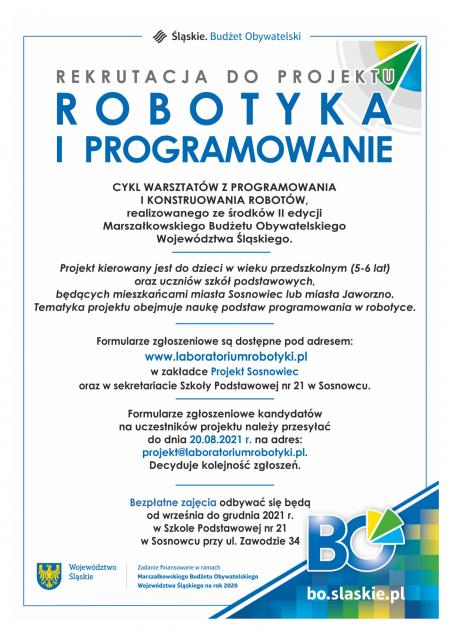 Bezpłatne zajęcia z robotyki i programowania w SP21